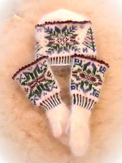 Mittens and Hat set - viewed from the other side