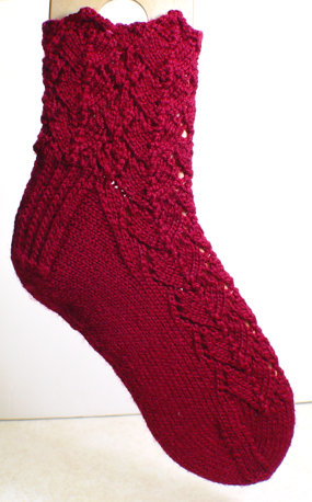 Heart Socks with cuff variation