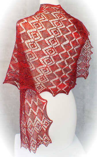 Faceted Gems Lace Wrap
