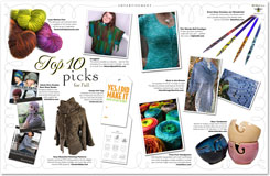 Fall 2011 issue of Knit Circus featuring Buds in the Breeze Stole