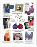Yarn Market News May 2010 advertorial featuring White Lotus Lace Stole