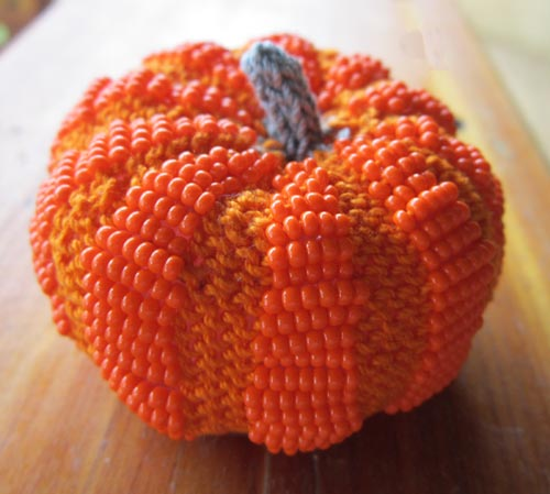 Little Beaded Pumpkin