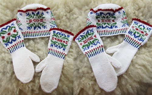 No Two Alike Snowflakes Mittens and Hat