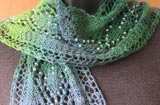 Spring Raindrops Lace Leaves Scarf