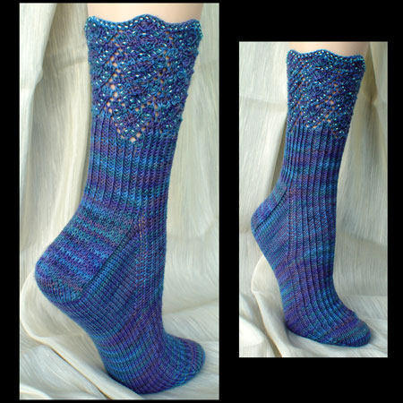 Beaded Offset Chevrons Socks