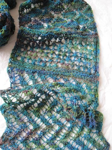 close-up of Lacy Interlacements Scarf