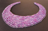 Beaded Crescent Neck Lace