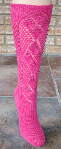 Two Ways About It Beaded Socks - front view