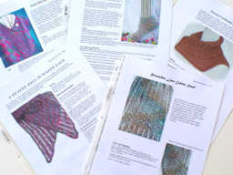 Examples of HeartStrings pattern leaflets in the Jackie E-S Design Collections