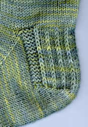 detail of Frolicking Shamrocks Socks