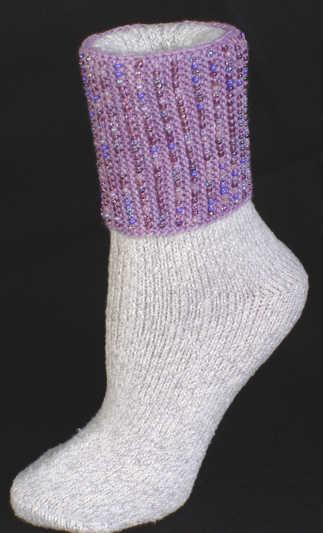 Simple Beaded Sock Not ankle band