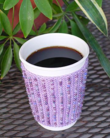 Simple Beaded cup cozy