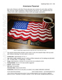 Sample cover page of HeartStrings Americana Flag Placemat pattern