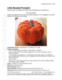 Sample cover page of HeartStrings Little Beaded Pumpkin pattern