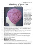Sample cover page of HeartStrings Thinking of You Too lace hearts knitting pattern in the cancer awareness pink edition