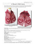 Sample cover page of HeartStrings I Heart Filet Lace Scarf pattern