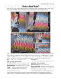 Sample cover page of HeartStrings Peek-a-Bead Scarf pattern
