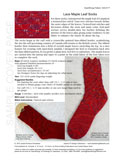 Sample cover page of HeartStrings Lace Maple Leaf Socks pattern